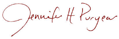 Jennifer Puryear Signature