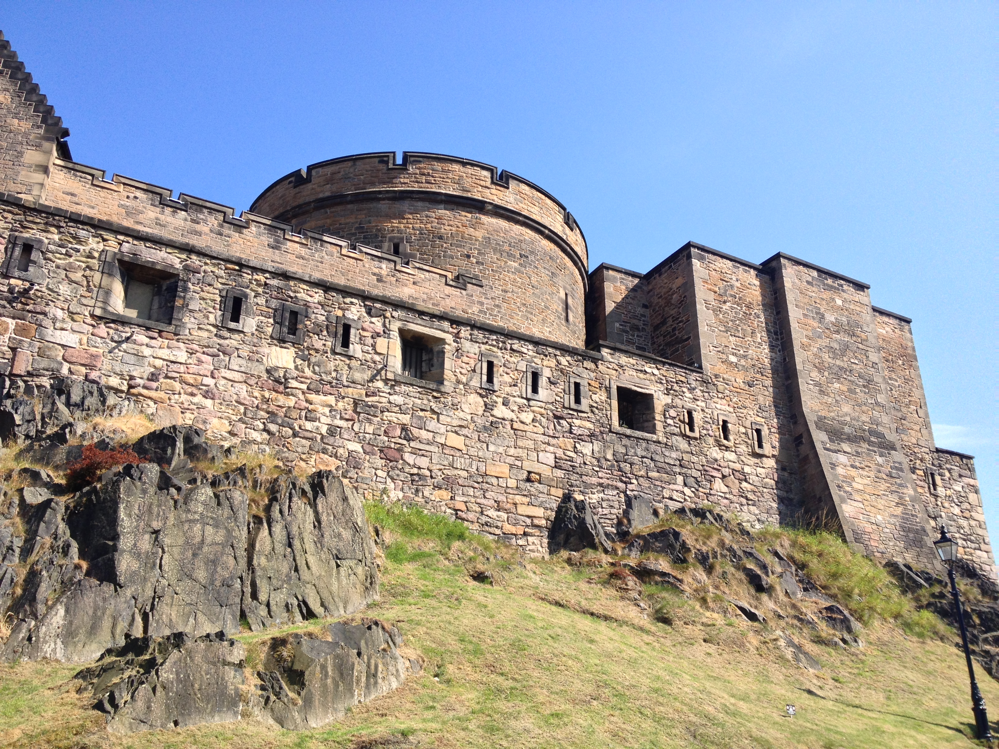 The fortress Castle high above Edinburgh