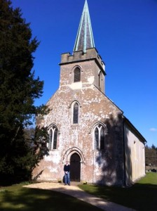 At St. Nicholas, Steventon, where Austen worshipped for the first 25 years of her life (her father was rector)