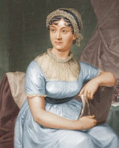 Jane Austen, from a drawing by sister Cassandra (wikipedia)